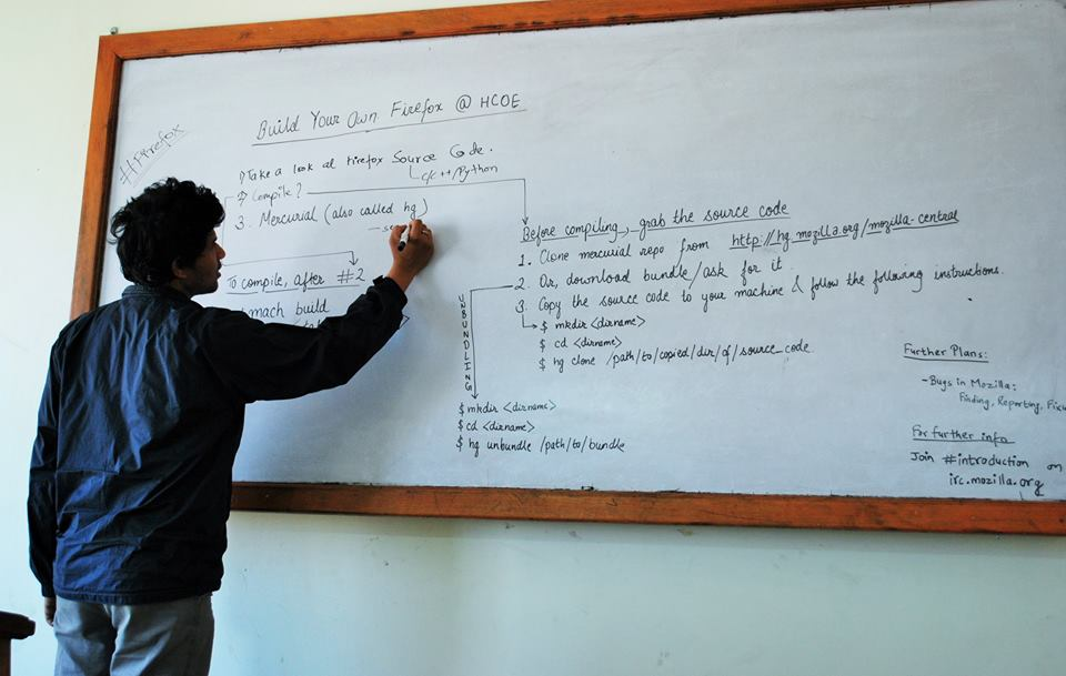 build firefox event at himalaya college of engineering - nootan writing steps to build